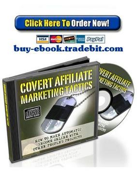 Product picture Covert Affiliate Marketing Tactics