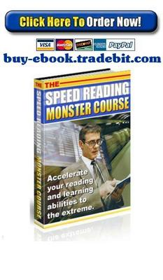 Product picture The Speed Reading Monster Course
